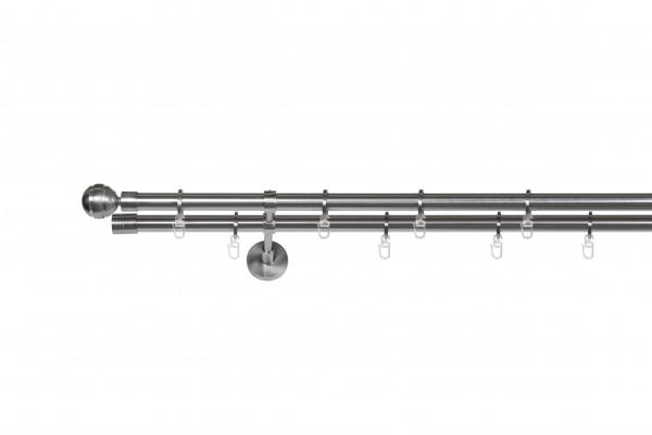 Gardinenstange auf Maß Kugel 2-lauf Vorhangstange